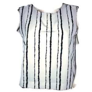 Vince Camuto sleeveless blouse striped medium
